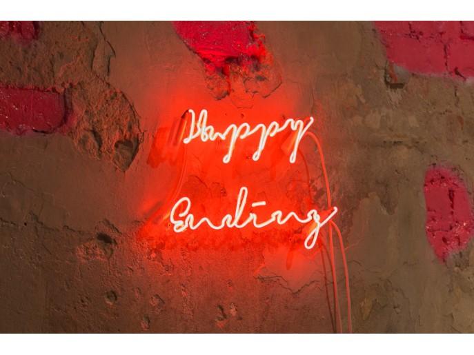 Happy Ending Sygns Lichtkunst Leuchtschrift