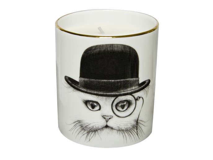 Rory Dobner Cat In Hat Cutesy Candle