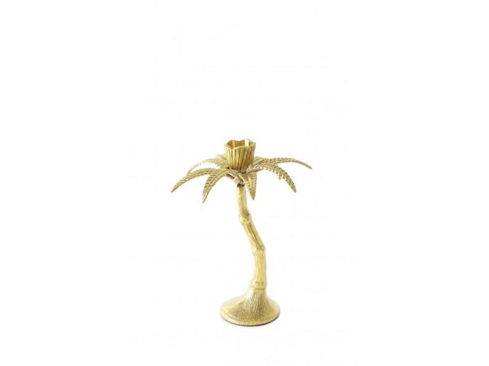 Golden Palm Candle Holder