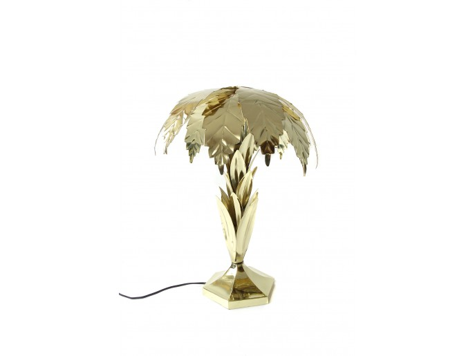 Golden Palm Table Lamp